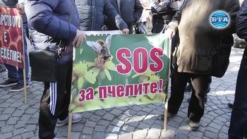 Пчелари излязоха на протест пред сградата на МЗХГ
