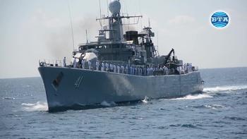 "Участниците в националното военноморско учение с международно участие ""Бриз – 2018"" получиха висока оценка по време на ВИП деня на учението"