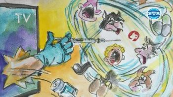 Триста шаржа на русенски художник разказват за пандемията