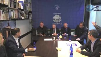 """Посланик Радко Влайков подчерта, че политическият диалог между България и Сърбия започва с думите """"българско национално малцинство"""" на специална пресконференция по случай втората годишнина на пресклуба на БТА в Босилеград"""