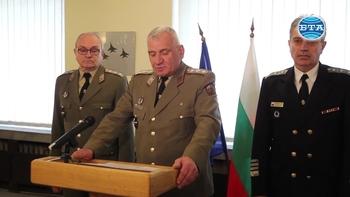 Началникът на отбраната генерал-лейтенант Андрей Боцев представи анализа на подготовката, войсковия ред и дисциплината в Българската армия и структурите на пряко подчинение на министъра на отбраната