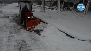 Зимната обстановка в Добричко
