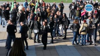 В Бургас излязоха на митинг в подкрепа на четиримата граничари, съдени в Турция