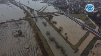 Наводнени площи в Софийско