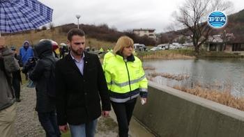 """Столичният кмет Йорданка Фандъкова провери състоянието на общинския язовир """"Мърчаево"""""""