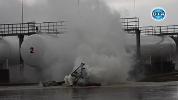Демонстративно пожаро-тактическо учение в Добрич