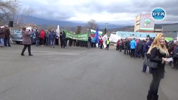 Банскалии отново излязоха на протест с искане за изграждане на втори кабинков лифт